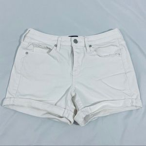 Mossimo White Jean Shorts Size 6